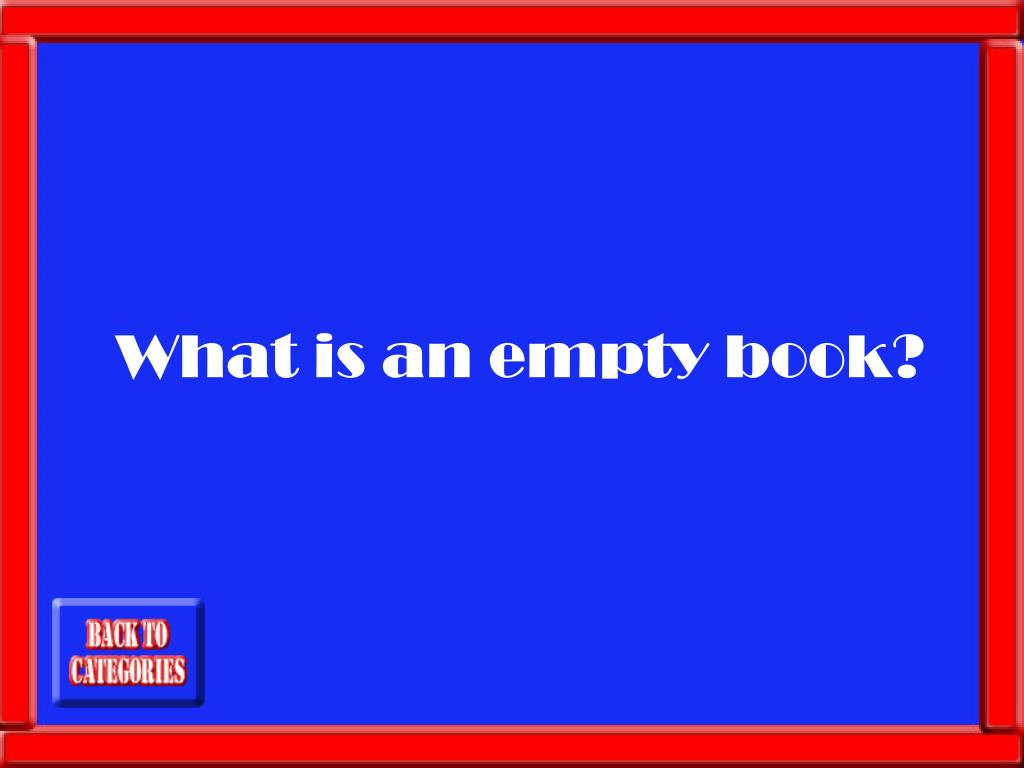 What is an empty book?