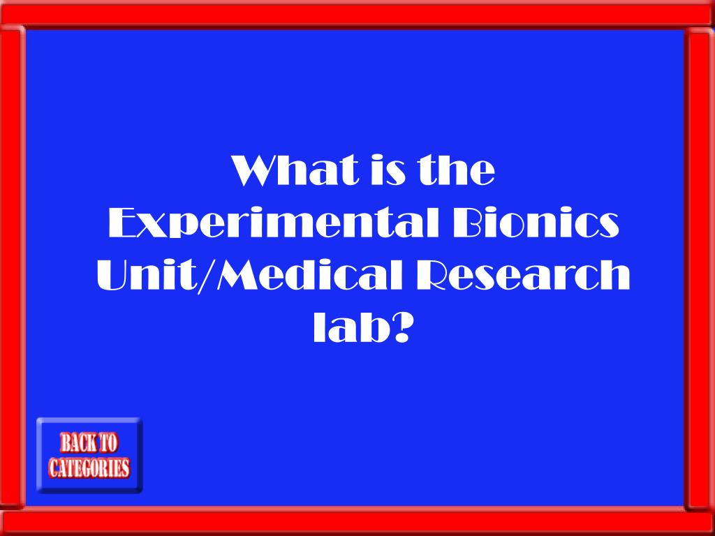 What is the Experimental Bionics Unit/Medical Research lab?