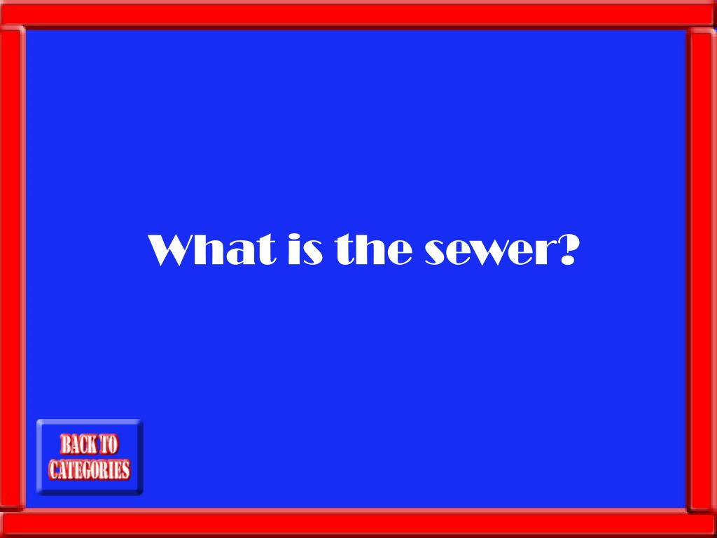 What is the sewer?
