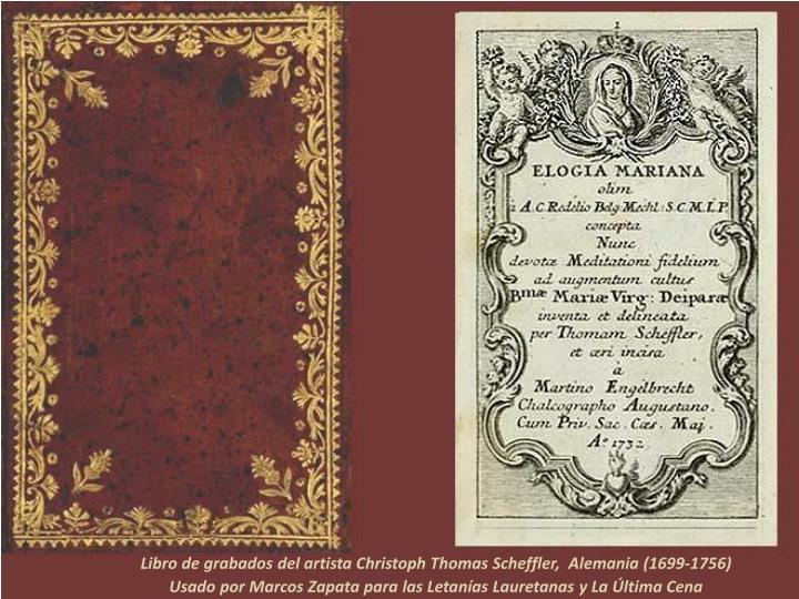 Libro de grabados del artista Christoph Thomas Scheffler,  Alemania (1699-1756)