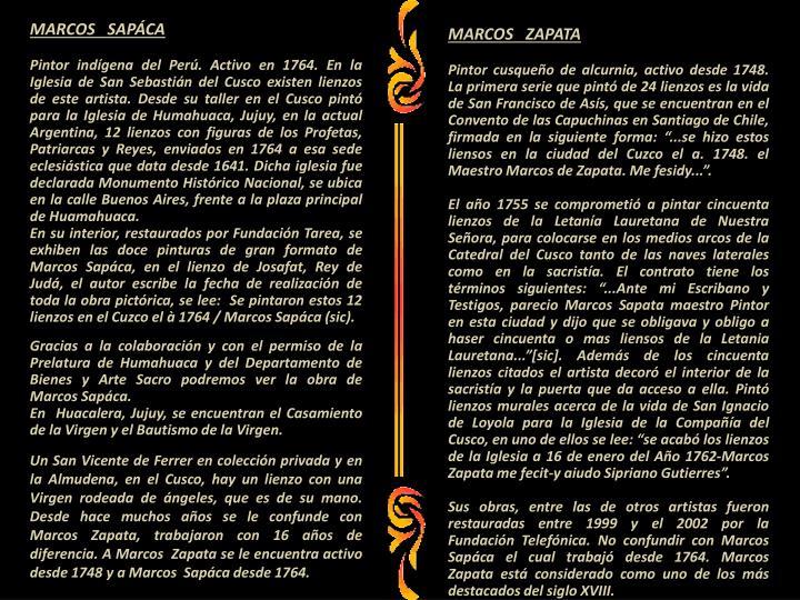 MARCOS   SAPÁCA
