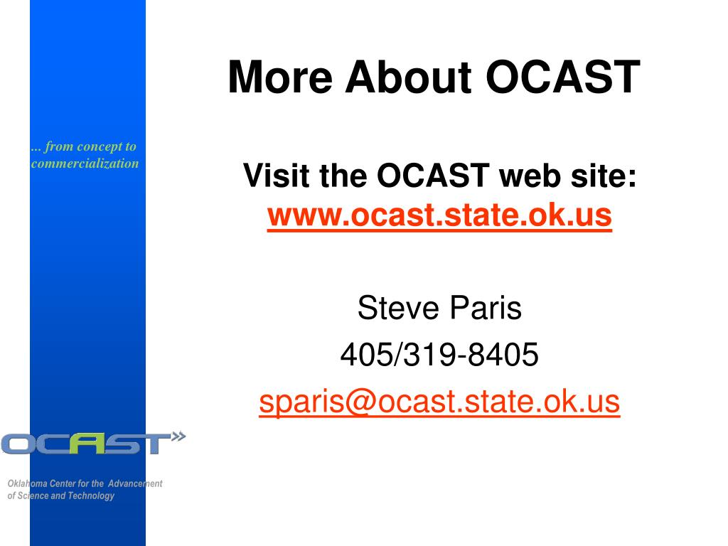 More About OCAST