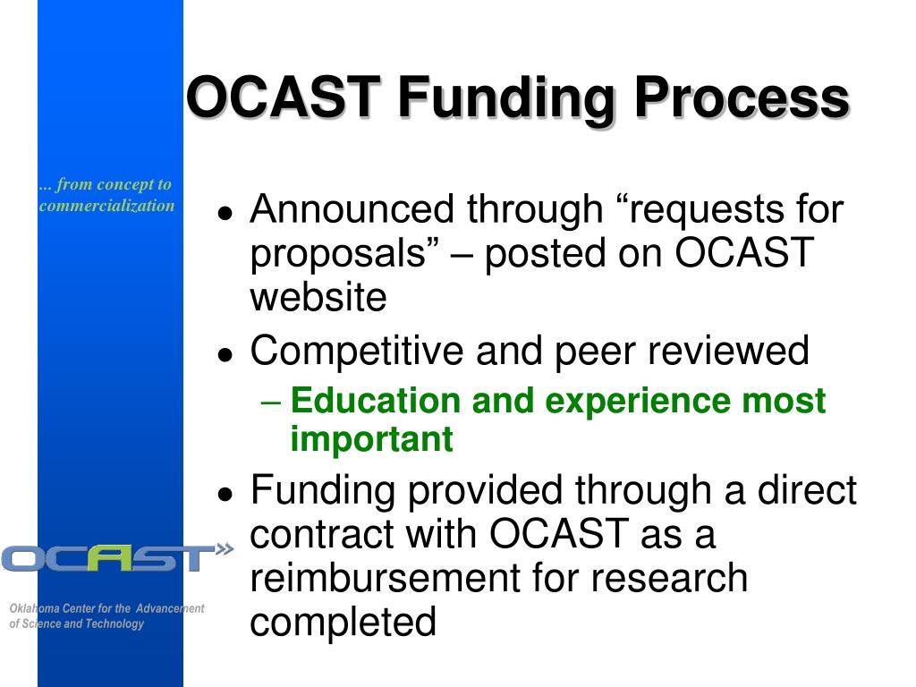 OCAST Funding Process