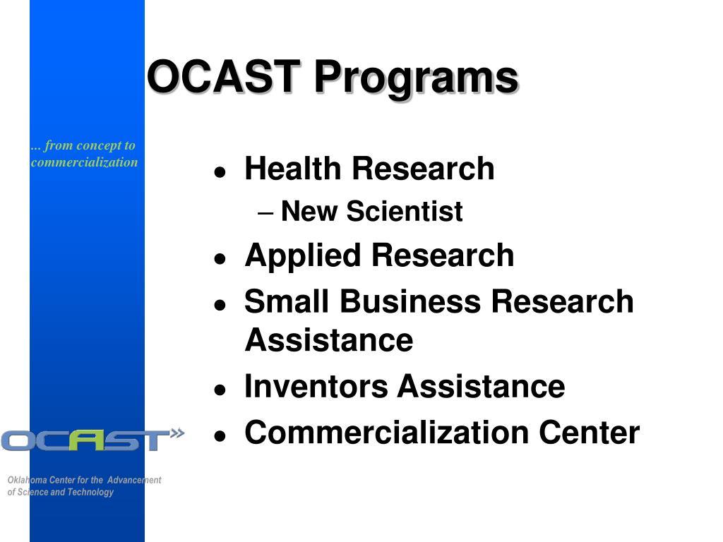OCAST Programs