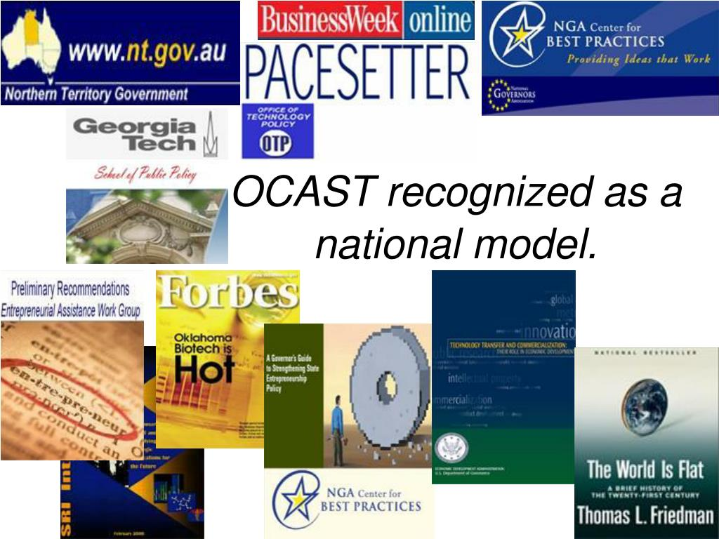 OCAST recognized as a national model.