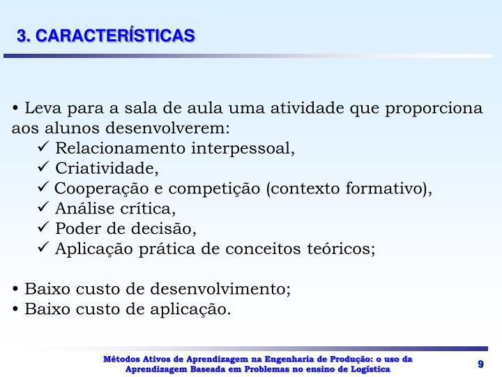 3. CARACTERÍSTICAS