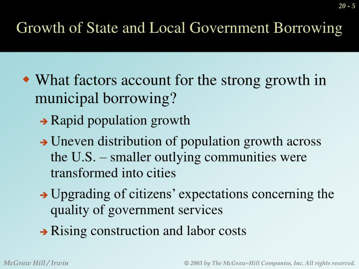 Growth of State and Local Government Borrowing