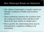how municipal bonds are marketed