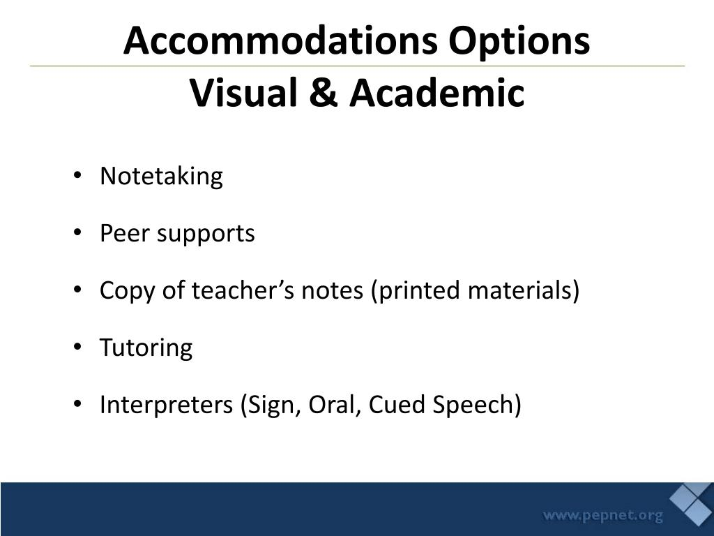Accommodations Options