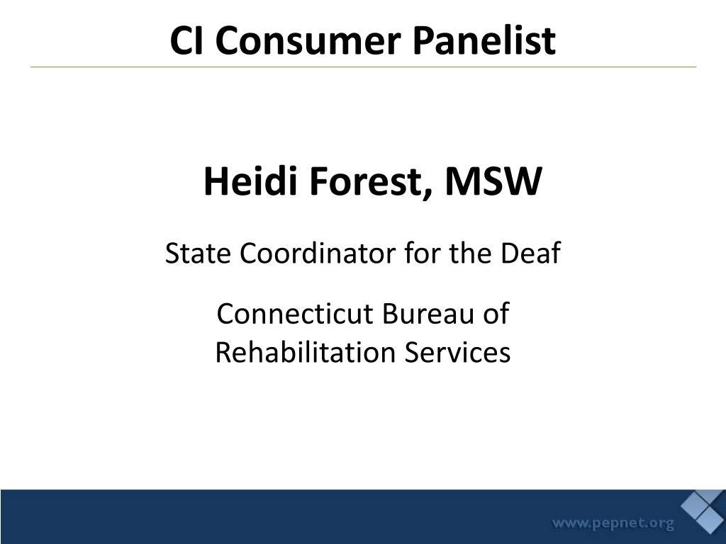 CI Consumer Panelist