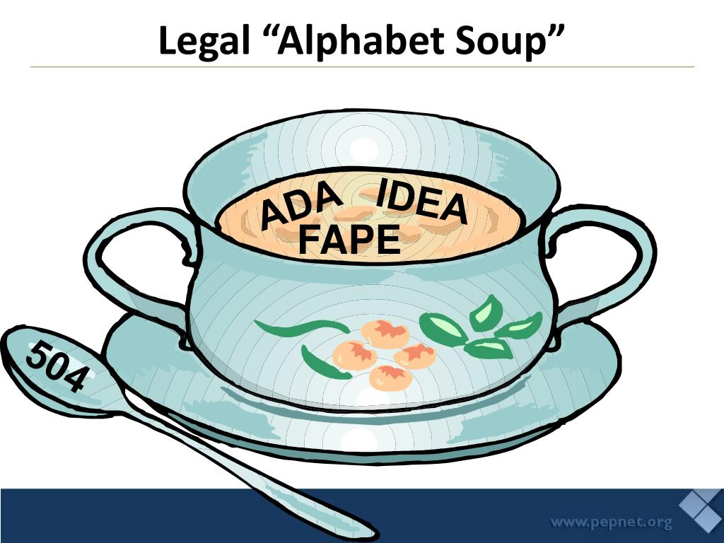 """Legal """"Alphabet Soup"""""""