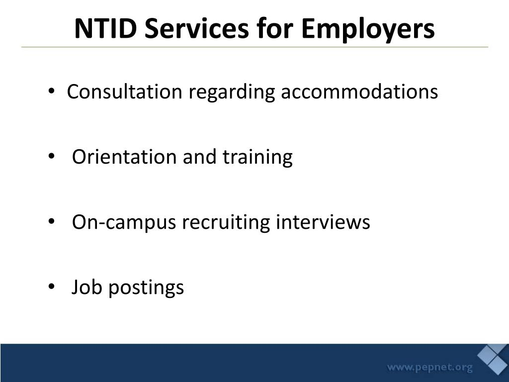 NTID Services for Employers