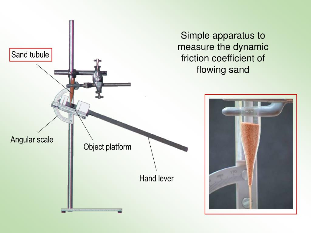 Simple apparatus to measure the dynamic friction coefficient of flowing sand