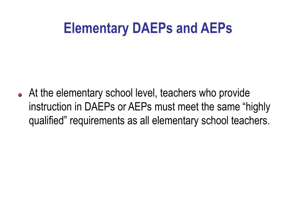 Elementary DAEPs and AEPs