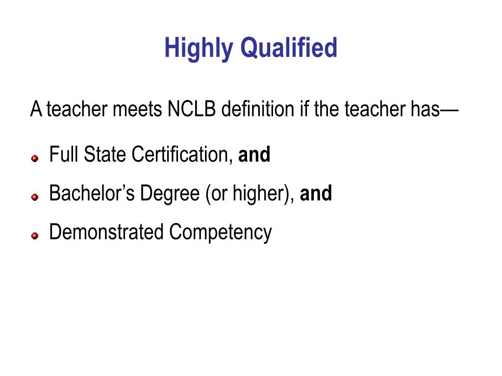 Highly Qualified