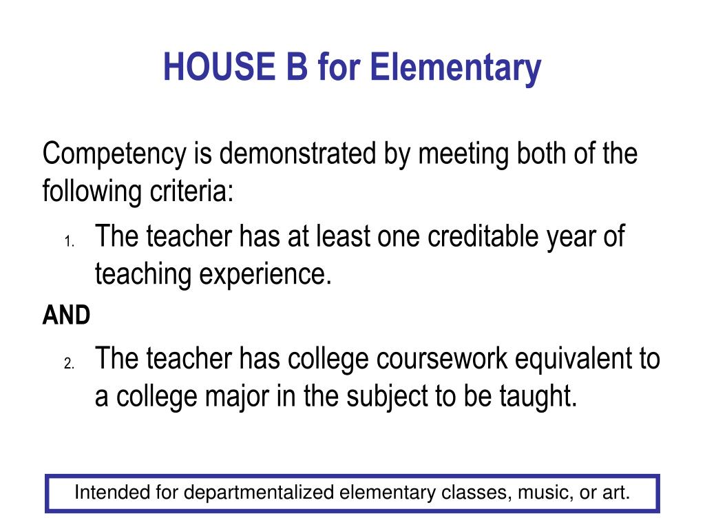 HOUSE B for Elementary