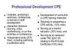professional development cpe