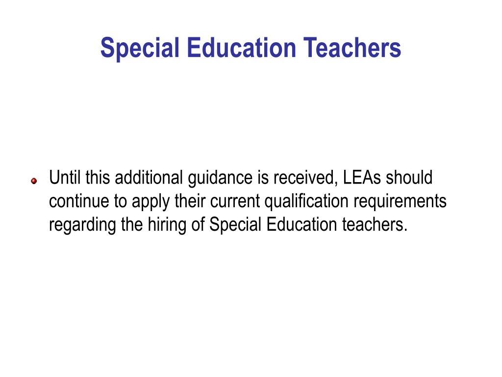 Special Education Teachers