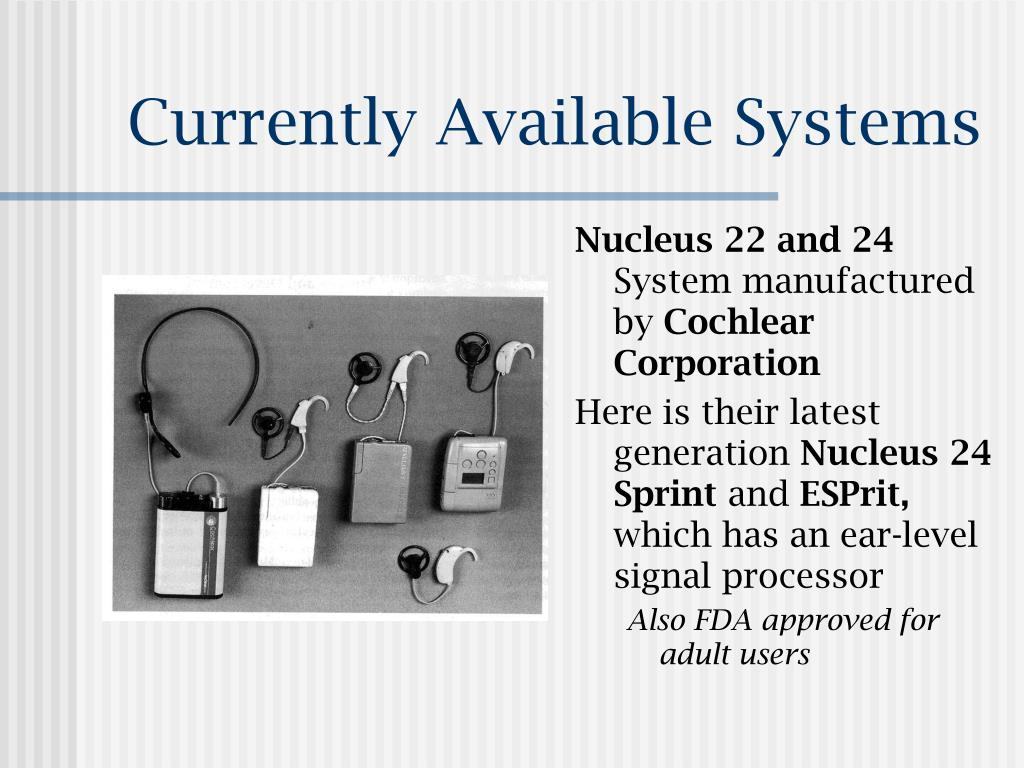 Currently Available Systems