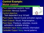 control example motor control