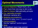 optimal movements