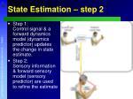 state estimation step 2