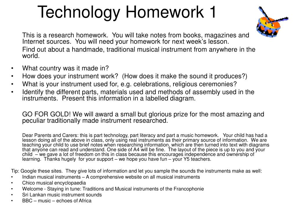 Technology Homework 1
