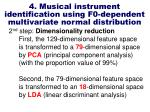 4 musical instrument identification using f0 dependent multivariate normal distribution10