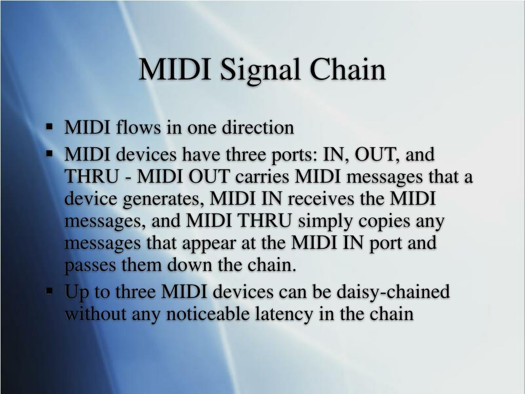 MIDI Signal Chain