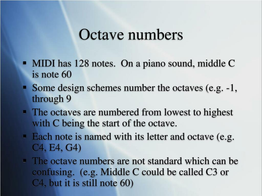Octave numbers