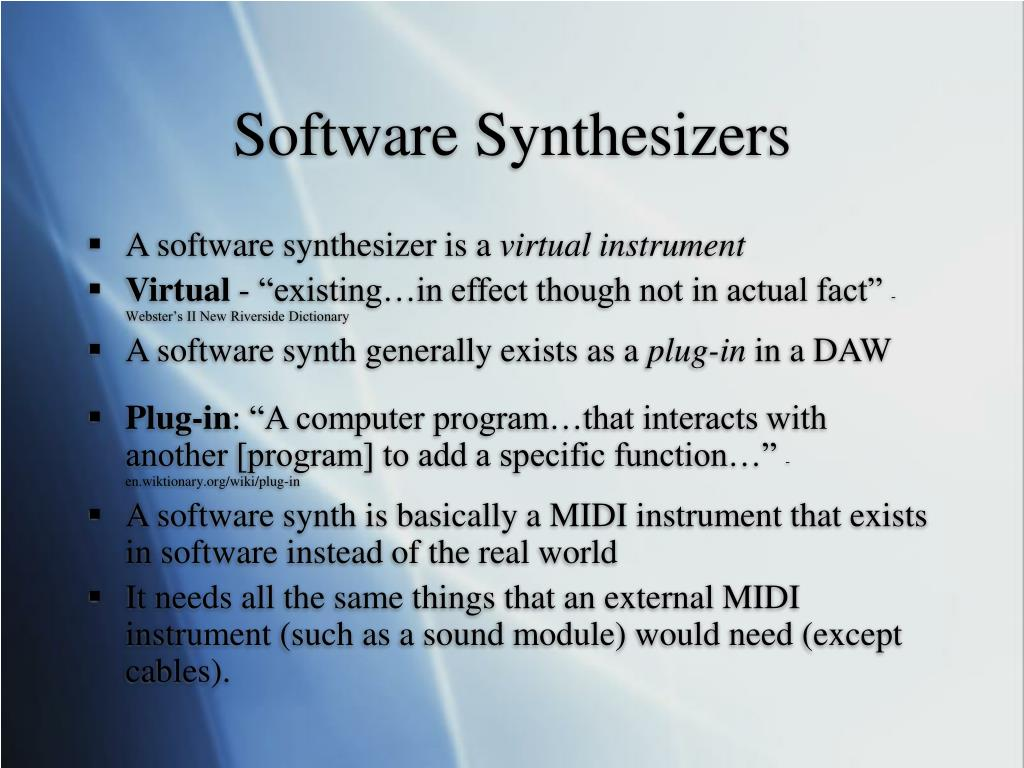 Software Synthesizers
