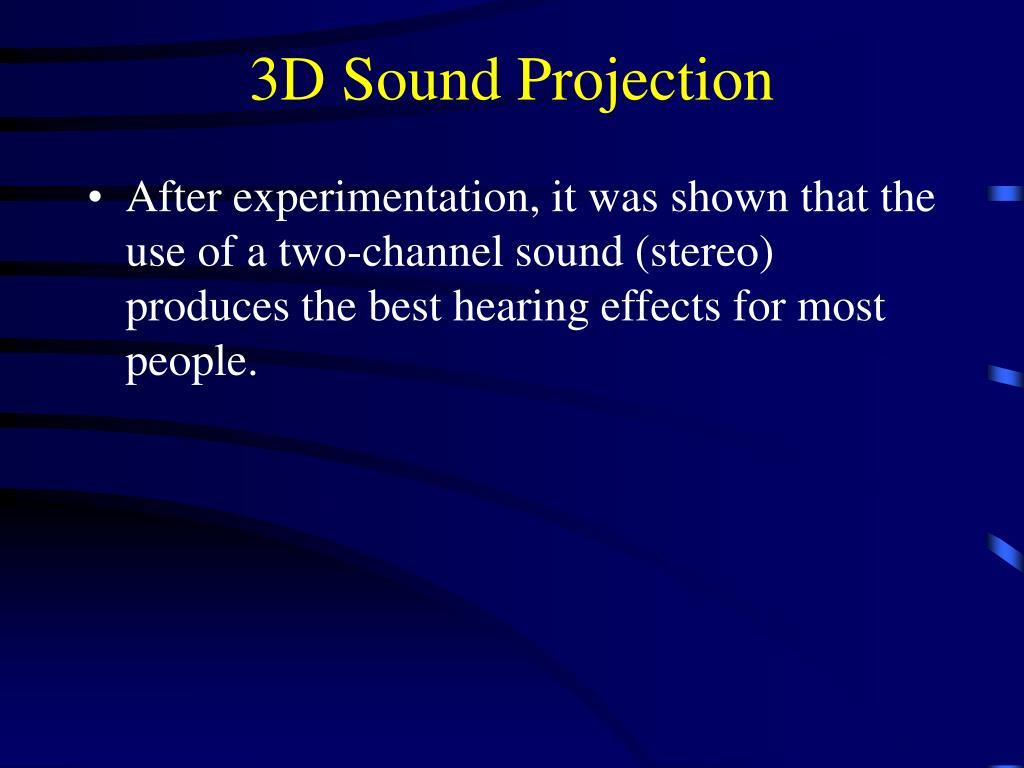 3D Sound Projection