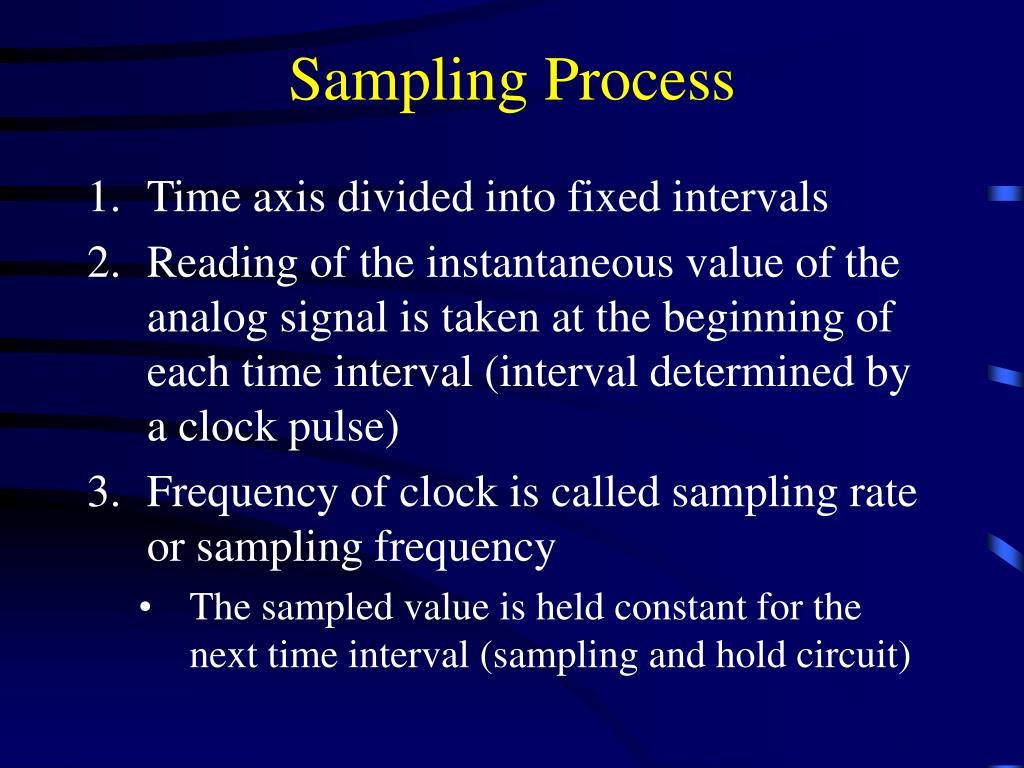 Sampling Process