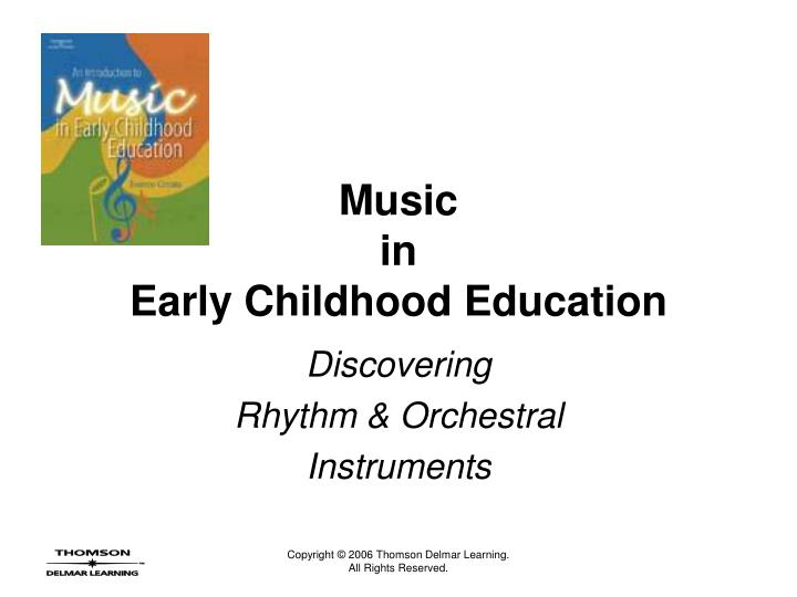Music in early childhood education l.jpg
