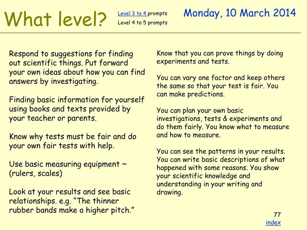 Level 3 to 4