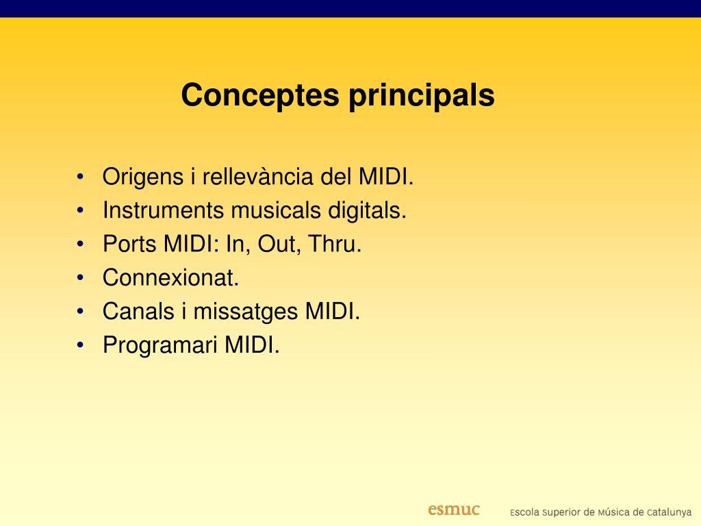 Conceptes principals