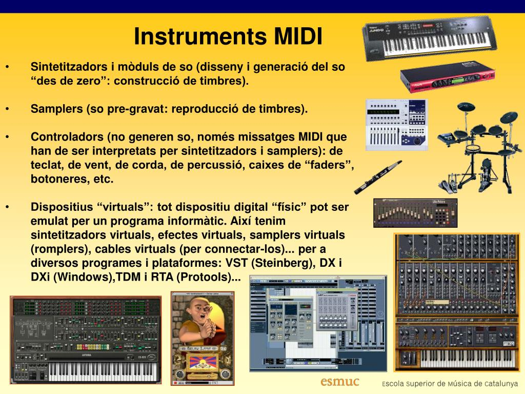 """Sintetitzadors i mòduls de so (disseny i generació del so """"des de zero"""": construcció de timbres)."""