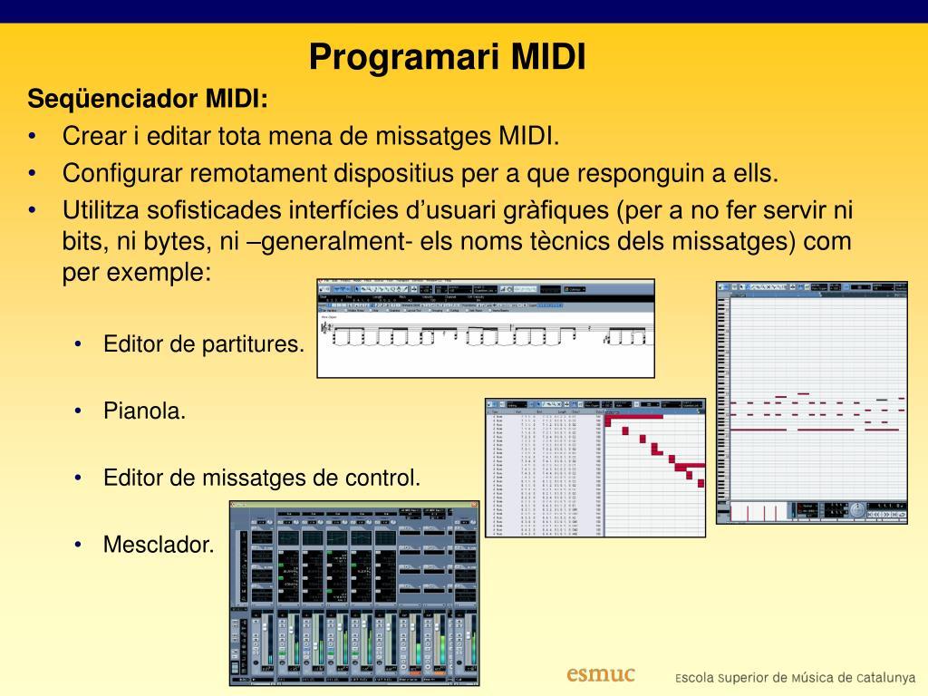 Programari MIDI