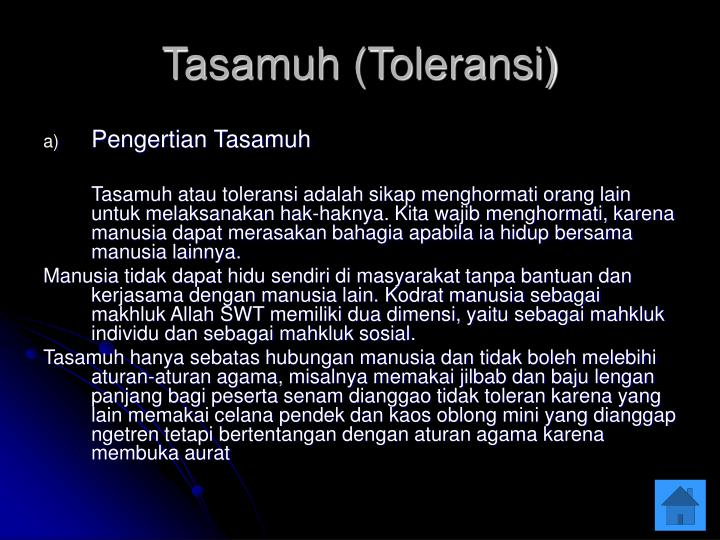 Tasamuh (Toleransi)