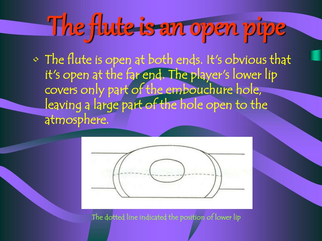 The flute is an open pipe