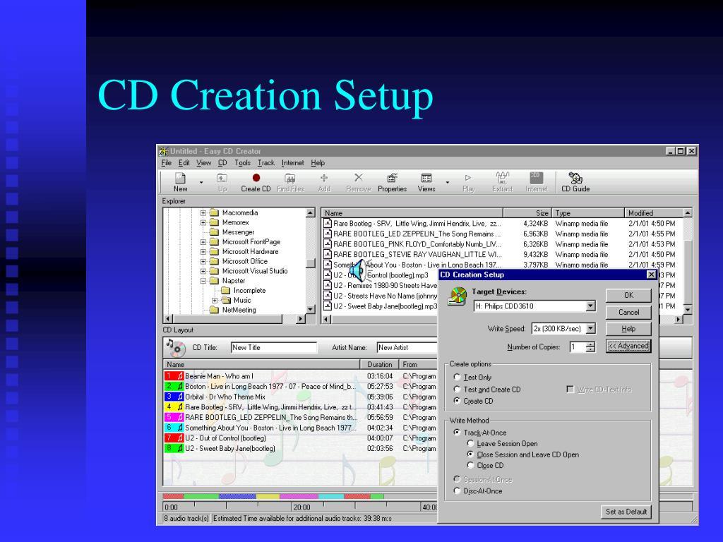 CD Creation Setup