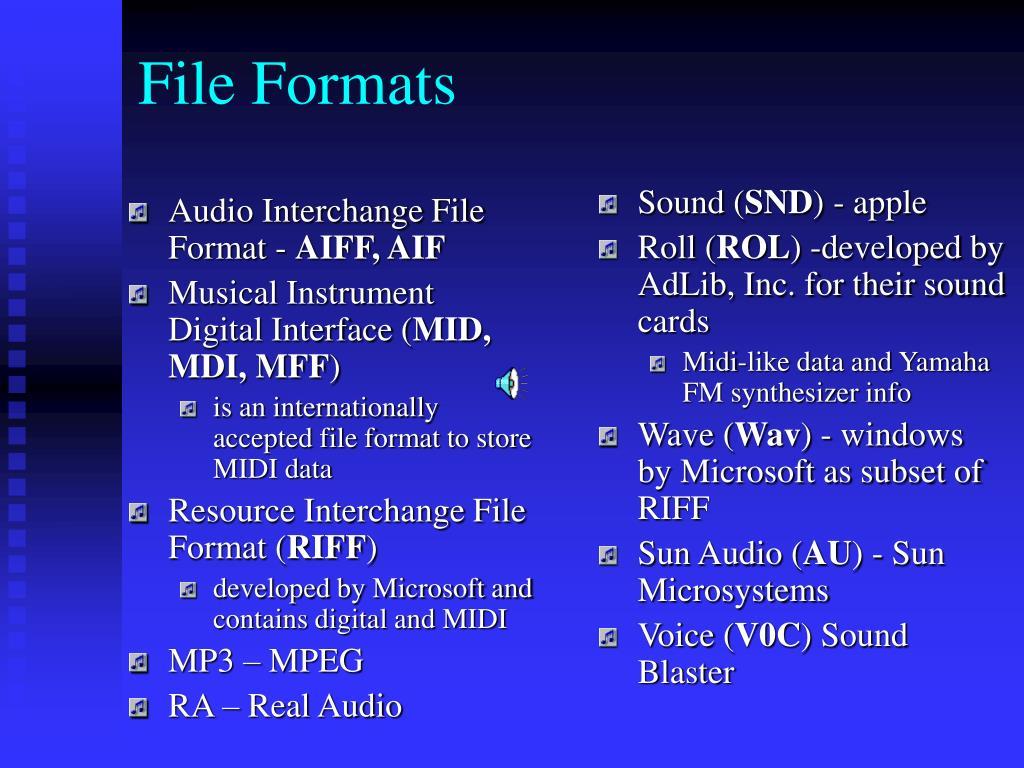 Audio Interchange File Format -