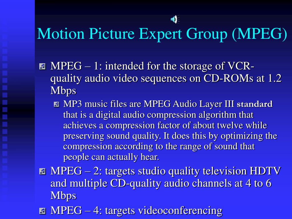 Motion Picture Expert Group (MPEG)