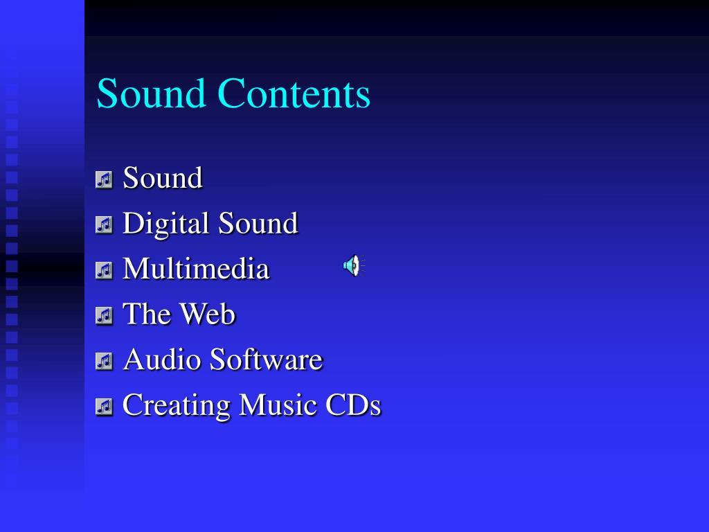 Sound Contents