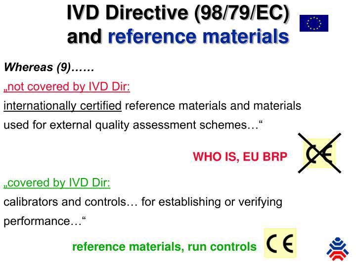 IVD Directive (98/79/EC)