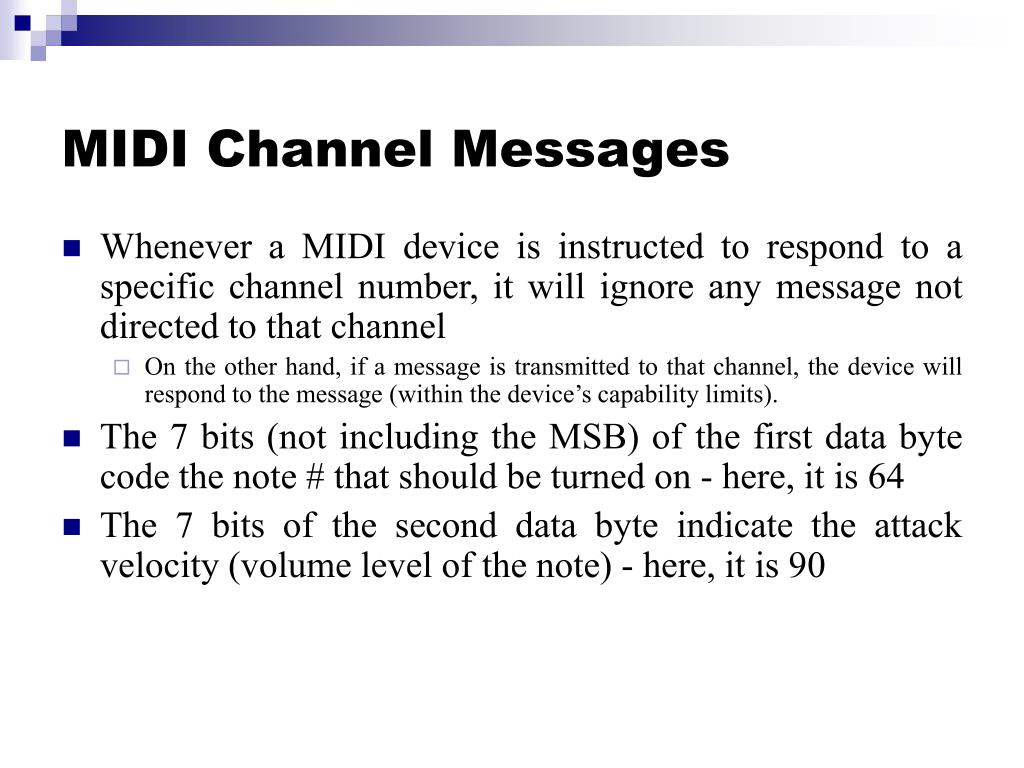 MIDI Channel Messages