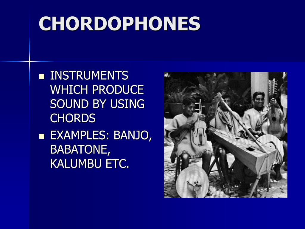 CHORDOPHONES