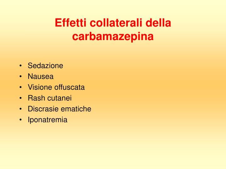 Effetti collaterali della carbamazepina