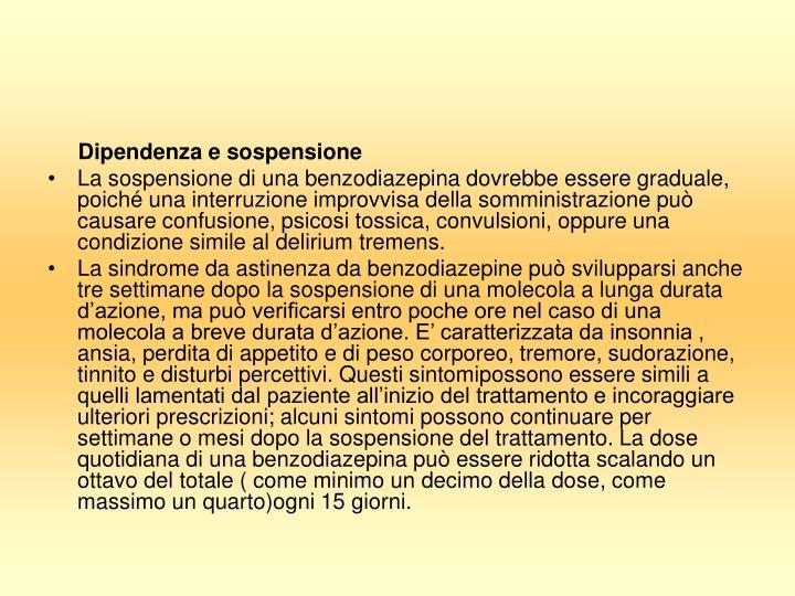 Dipendenza e sospensione