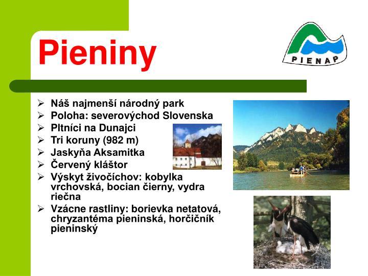 Náš najmenší národný park